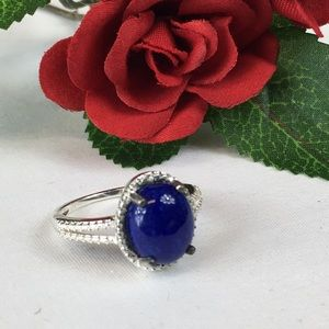 Lapis Lazuli Sterling Solitaire Ring